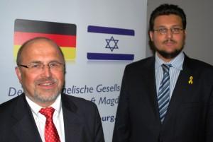 v.l.n.r.: Gerhard Miesterfeldt und Tobias Krull (Foto: MG)